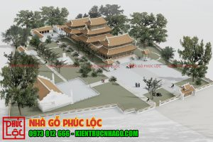 Tổng thể nhà chùa Long Bình