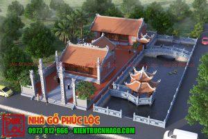 Bản thiết kế nhà đền thờ đẹp