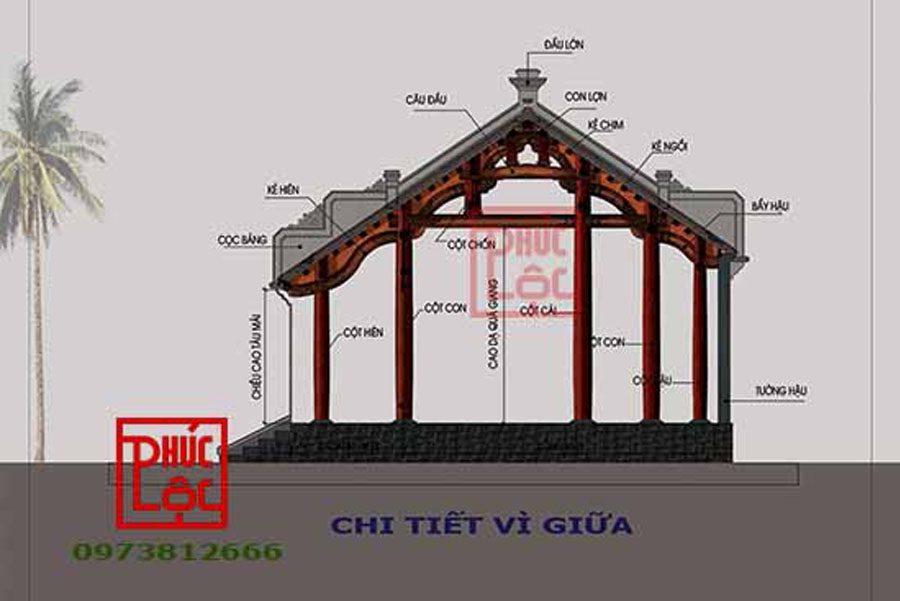 Nhà gỗ 3 gian 22 cột