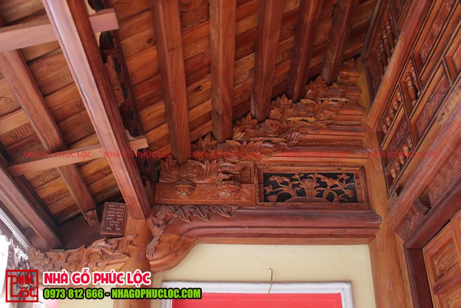 Con rường của nhà gỗ mít 5 gian