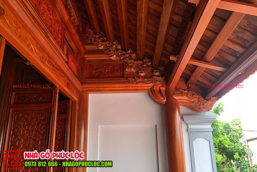 Các con rường của nhà gỗ lim 3 gian cổ truyền