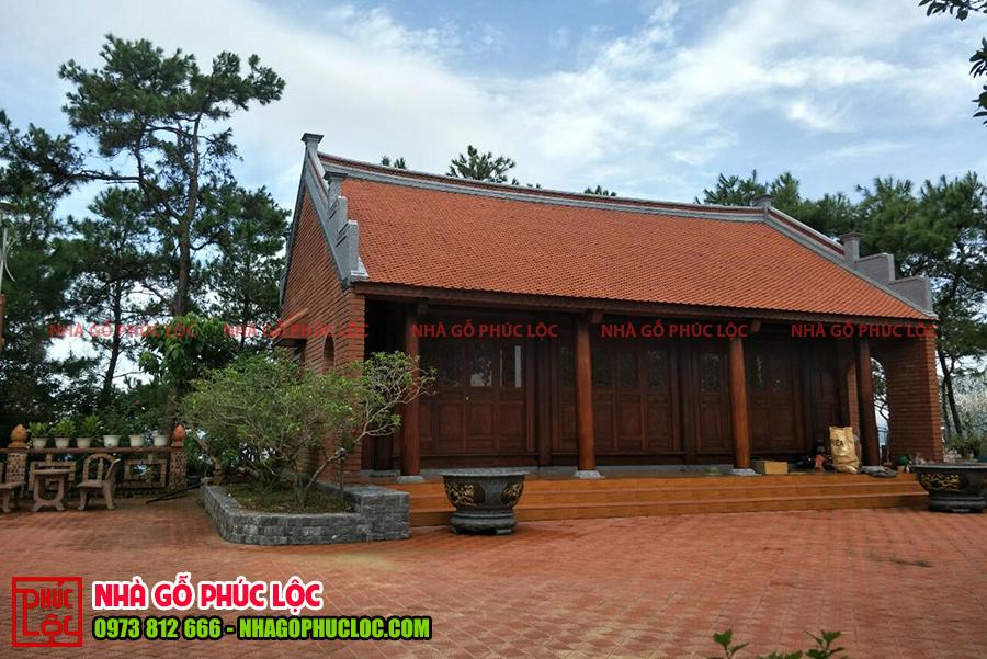 Hình ảnh căn nhà gỗ 3 gian cổ truyền Bắc Bộ