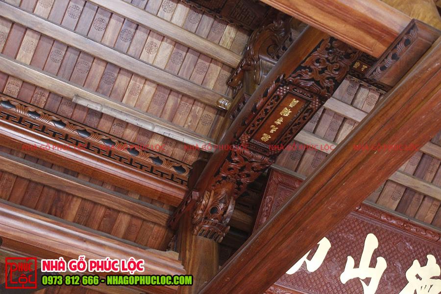 Phần câu đầu nhà gỗ cổ truyền