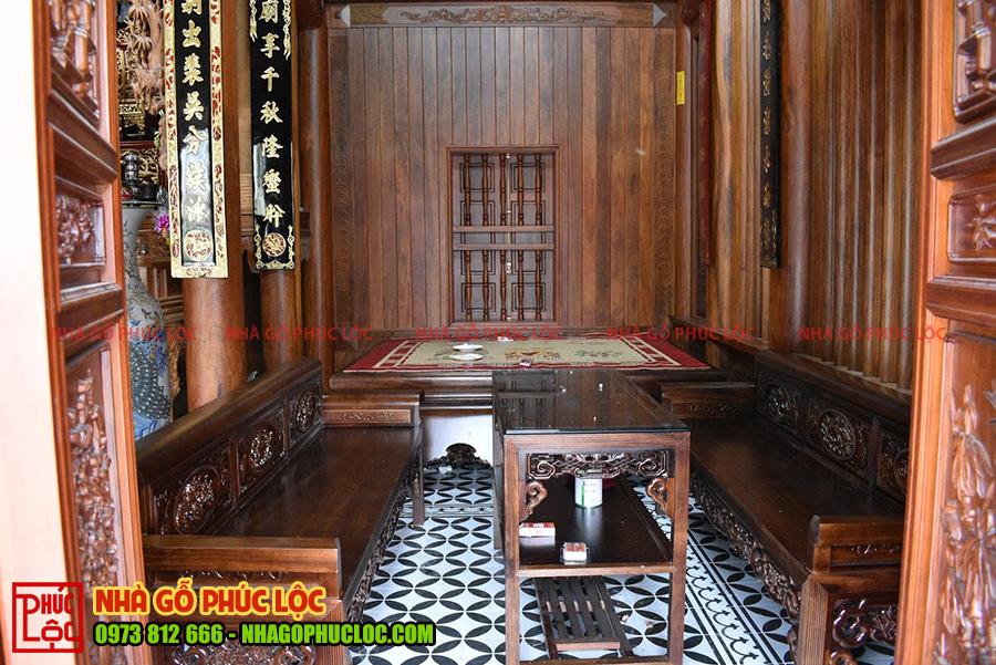 Gian biên của nhà gỗ cổ truyền
