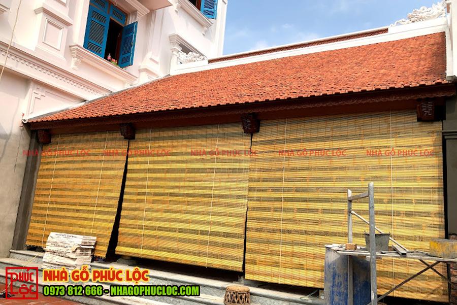 Cận cảnh công trình nhà gỗ gõ 3 gian