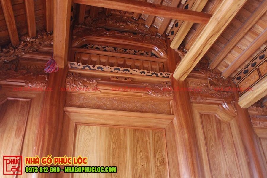 Bên trong ngôi nhà tường vì thuận được ốp gỗ