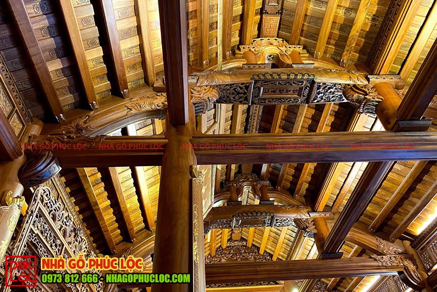 Kết cấu mái của nhà gỗ cổ truyền